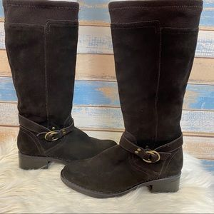 Kelly & Katie Brown Suede Riding Boots Size 6.5
